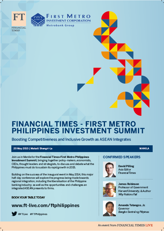 FT-First Metro Philippines Investment Summit